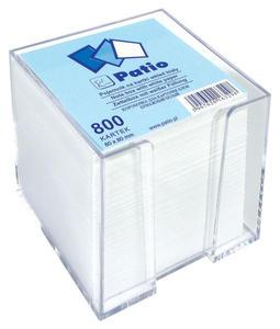 Kostka biurowa Box Patio biała 800k x1