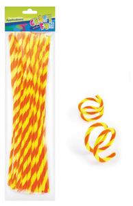 Druciki kreatywne 30cm zółto/pomarańcz. x40