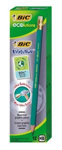 Ołówek BIC Evolution HB z gumką x12 - 2824969527