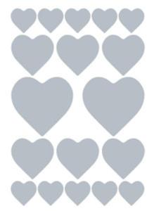 Naklejki HERMA Decor 3055 serca srebre x1