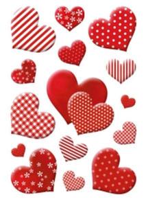 Naklejki HERMA Decor 3056 serca print x1