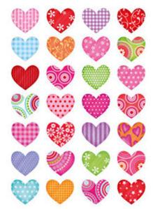 Naklejki HERMA Decor 3057 kolorowe serca x1