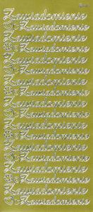 Sticker złoty 20870 - zawiadomienie x1