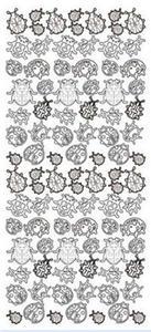 Sticker złoty 02101 - biedronki x1 - 2824969973