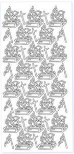 Sticker złoty 01867 - baranek wielkanocny x1