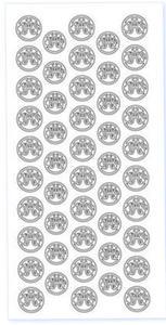 Sticker srebrny 02069 - Hostie (R790) x1