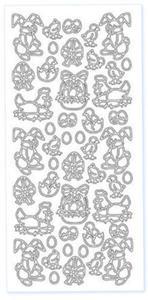 Sticker srebrny 03740 - motywy wielkanocne x1 - 2824970001