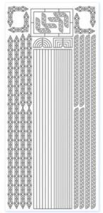 Sticker srebrny 10860 - szlaczek x1