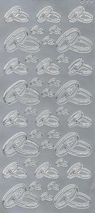 Sticker srebrny 02540 - obrączki x1 - 2824959710