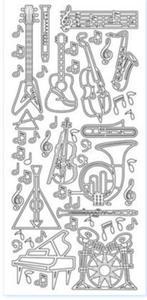 Sticker z�oty 01088 - instrumenty x1