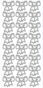 Sticker złoty 01089 - kokardki x1