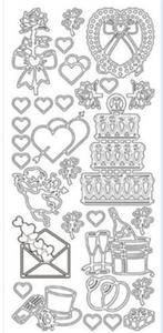 Sticker srebrny 11110 - ślub (R95) x1