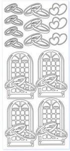 Sticker złoty 11330 - obrączki, okna (R04) x1