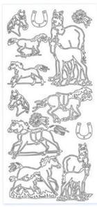 Sticker srebrny 11920 - konie x1