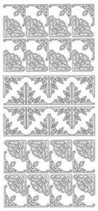 Sticker srebrny 12310 - narożniki x1