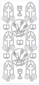 Sticker złoty 12560 - Komunia x1