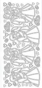 Sticker srebrny 13650 - para młoda x1