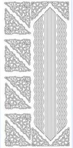 Sticker srebrny 13880 - szlaczki i narożniki x1