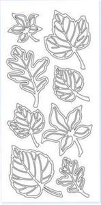 Sticker srebrny 14750 - liście x1