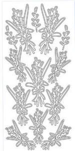 Sticker srebrny 01869 - bazie x1