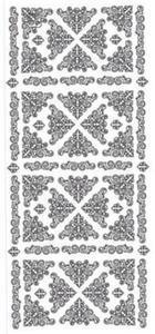 Sticker srebrny 01878 - narożniki x1