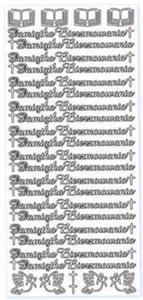 Sticker srebrny 01902 - pamiątka bierzmowania x1