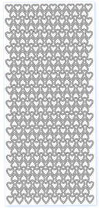 Sticker złoty 20930 - małe serduszka x1
