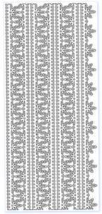 Sticker srebrny 20950 - szlaczki x1