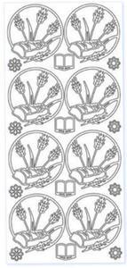 Sticker srebrny 25420 - chleb ze zbożem x1