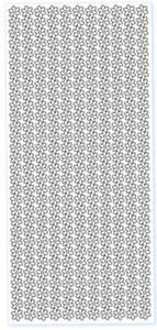 Sticker srebrny 02594 - szlaczki kwiatki x1
