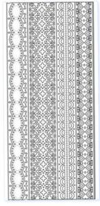 Sticker złoty 02462 - szlaczki x1