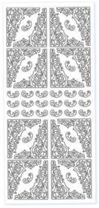 Sticker srebrny 02854 - narożniki x1 - 2824970112
