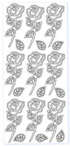 Sticker złoty 03117 - róże x1