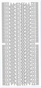 Sticker srebrny 03230 - szlaczki x1