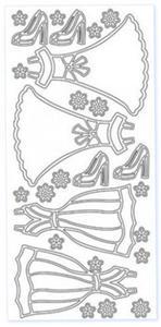 Sticker złoty 03636 - sukienki x1 - 2824970124