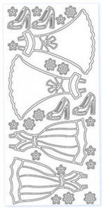 Sticker srebrny 03636 - sukienki x1 - 2824970125