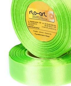 Wstążka 12mm satyna !052 zielona jasna 32mb x1
