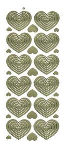 Sticker złoty 06302 - serca x1
