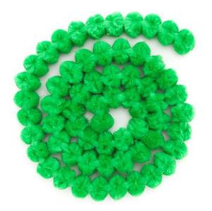 Girlanda z pomponów - zielona x1