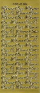 Sticker złoty 48034 - I Komunia x1