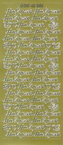 Sticker złoty 48358 - moc życzeń x1