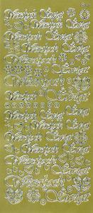 Sticker złoty 20840 - wesołych świąt x1