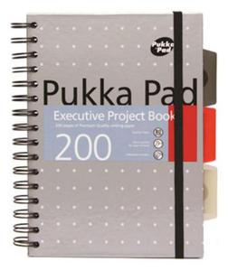 Executive Pukka Project Book A5 Metalic srebrny x1 - 2824970815