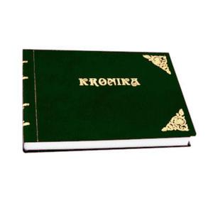 Kronika A4 160k. Barbara pozioma zielona szyta x1 - 2824959745