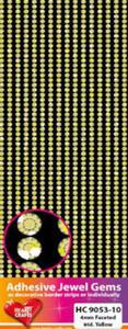 Kryształki samoprzylepne 4mm 1088szt. żółte - 2824971021