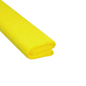 Krepa kolorowa, bibuła marszczona 04 żółta x1