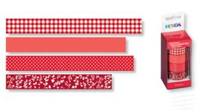 Taśmy papierowe 15mm 23 czerwona Heyda 5m x4 - 2846498389