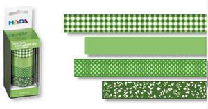 Taśmy papierowe 15mm 52 zielona Heyda 5m x4 - 2846498390