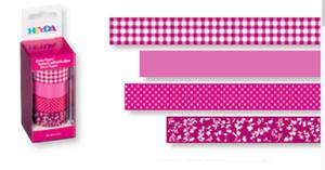 Taśmy papierowe 15mm 26 różowa Heyda 5m x4 - 2846498391
