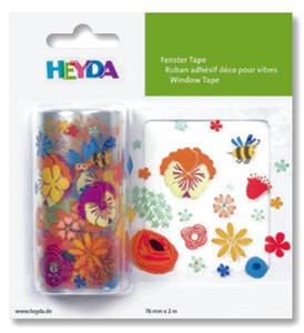 Naklejka na okno Heyda 76mm x 2mb - flowers x1 - 2824971176